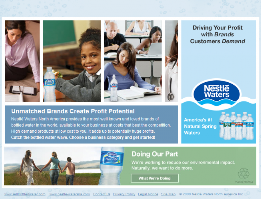 Byte Interactive/Story Worldwide, Nestlè Waters North America – sample page 1
